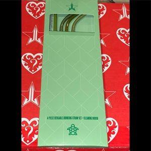 JS Green Metal Straws 4 Pack (NEW)